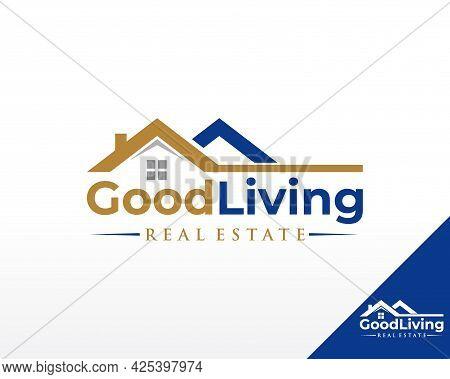 Real Estate Logo. House And Residence Logo Design Vector