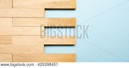 Solid Wood Parquet As Wood Texture On Blue Background With Space For Text Or Images, Woodworking Hea