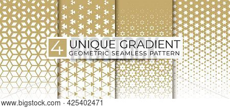 Vector Set Of Border Seamless Pattern. Abstract Ethnic Ornament. Repeating Geometric Texture. Tribal