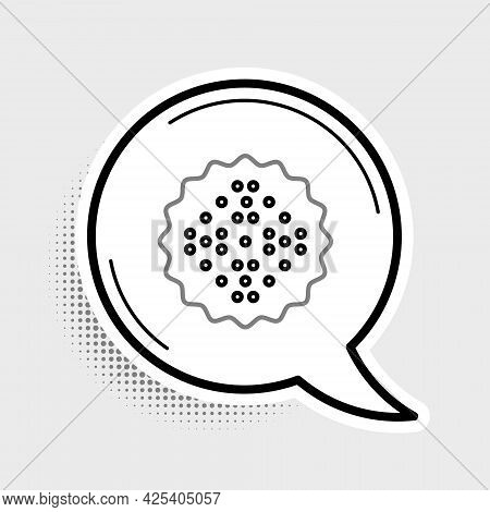 Line Cracker Biscuit Icon Isolated On Grey Background. Sweet Cookie. Colorful Outline Concept. Vecto