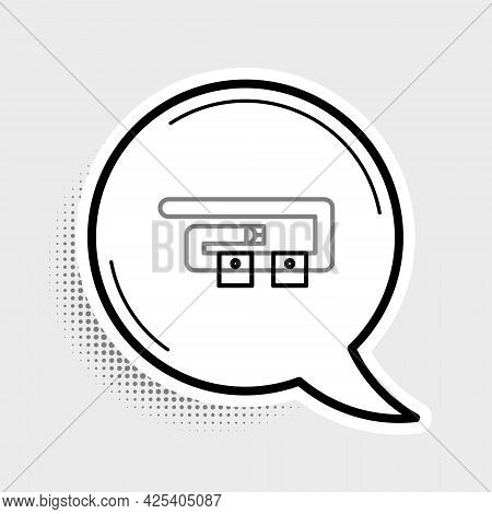 Line Diving Belt Icon Isolated On Grey Background. Scuba Gear. Diving Underwater Equipment. Colorful