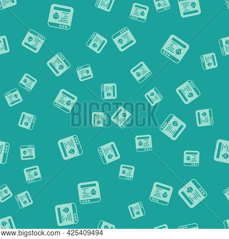 Green System Bug Concept Icon Isolated Seamless Pattern On Green Background. Code Bug Concept. Bug I