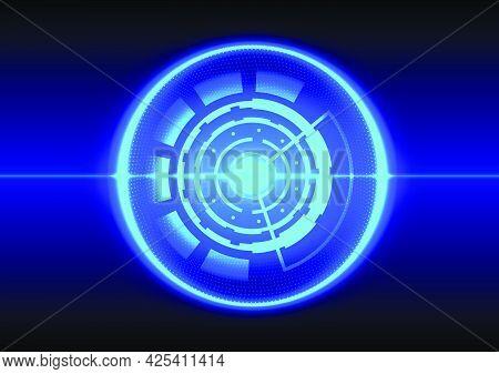 Abstract Hi-tech Background. Futuristic Interface. Virtual Reality Technology Screen