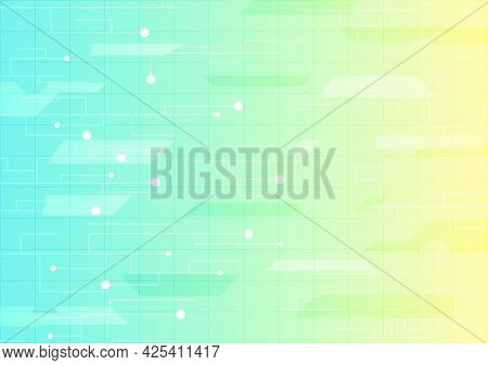 Abstract Hi-tech Background. Virtual Reality Technology Screen