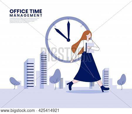 Time Management Flat Illustration Concept Vector Design
