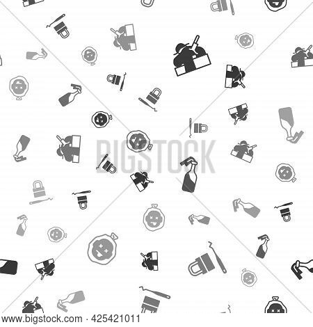 Set Murder, Lock Picks For Lock Picking, Cocktail Molotov And On Seamless Pattern. Vector