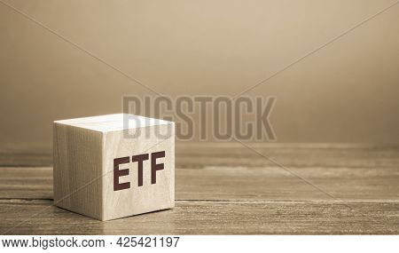 Wooden Blocks Etf - Exchange Traded Fund. Type Of Investment Fund And Exchange-traded Product. Stock