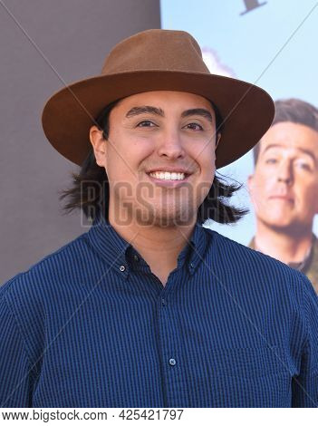 LOS ANGELES - JUN 26:  Tai Leclaire {Object} arrives for the Rutherford Falls Photo Opp on June 26, 2021 in Los Angeles, CA