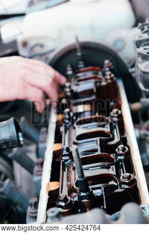 The Use Of Poor Quality Oil In The Engine. Deposits Of Tar From Oil On The Inside Of The Engine. The