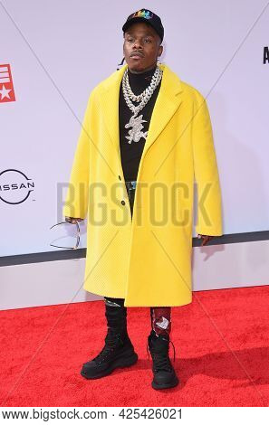 LOS ANGELES - JUN 27:  DaBaby {Object} arrives for the 2021 BET Awards on June 27, 2021 in Los Angeles, CA