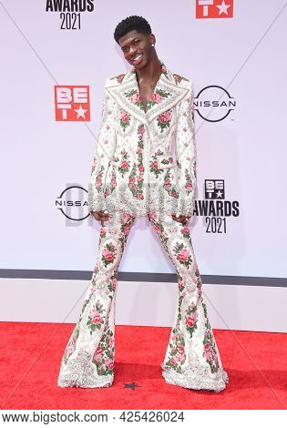 LOS ANGELES - JUN 27:  Lil Nas X {Object} arrives for the 2021 BET Awards on June 27, 2021 in Los Angeles, CA