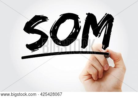 Som - Service Oriented Management Acronym With Marker, Business Concept Background