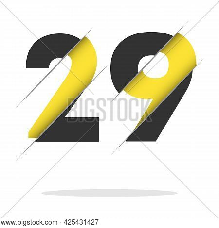29 2 9 Number Logo Design With A Creative Cut And Black Circle Background. Creative Logo Design.