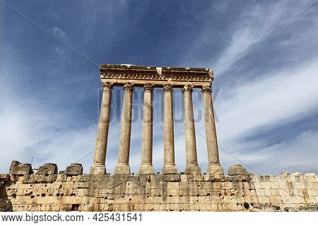 The Jupiter Temple Of Baalbek In Lebanon