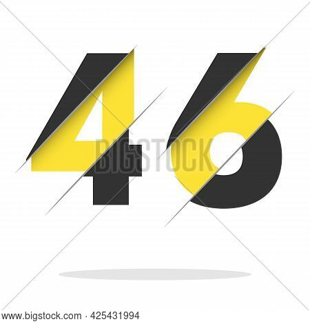 46 4 6 Number Logo Design With A Creative Cut And Black Circle Background. Creative Logo Design.