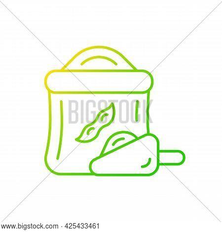 Kinako Gradient Linear Vector Icon. Healthy Soybeans Based Flour. Organic Meals Ingredients. Nutriti