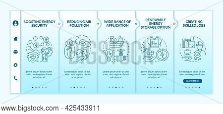 Hydrogen Tech Revolution Onboarding Vector Template. Responsive Mobile Website With Icons. Web Page