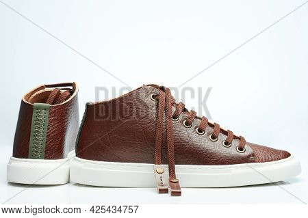 Modern Brown Leather Skin Shoes