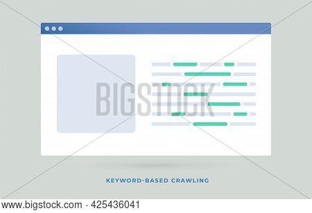 Keyword-based Crawling Search Engine Optimization Seo Flat Vector Illustration. Query-based Focused
