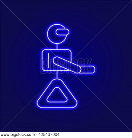Cyberpunk Robot Outline Icon. Futuristic Gadget. Future With Robot Technology. Science Fiction, Game