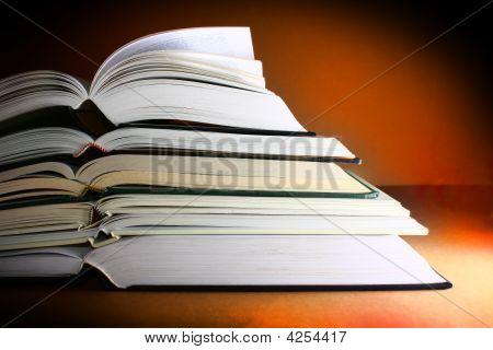 Books Dark Warm Background