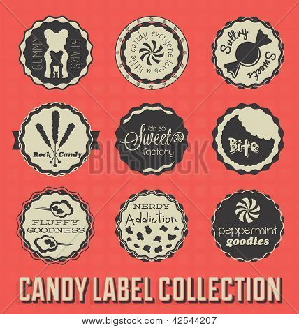 Candy and Sweets Labels