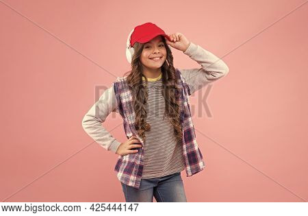 Ready To Study. Teen Girl Listen Song. Kid Listening Music Or Ebook. Elearning Concept.