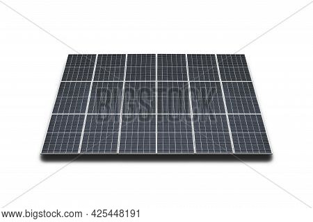 Solar Panels Isolated On A White Background