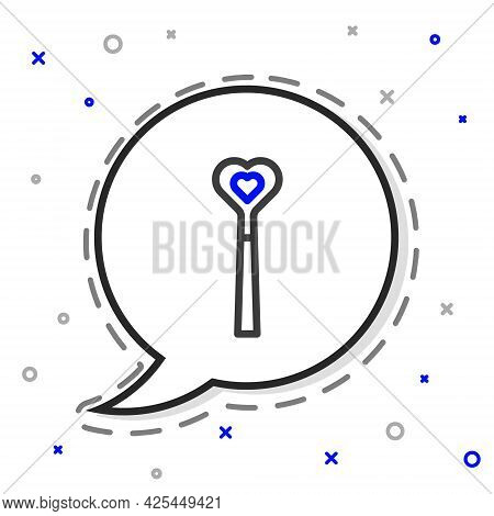 Line Magic Wand Icon Isolated On White Background. Star Shape Magic Accessory. Magical Power. Colorf