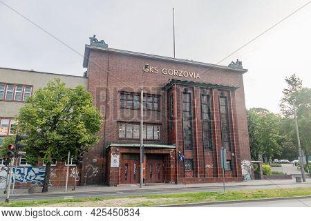 Gorzow Wielkopolski, Poland - June 1, 2021: Gks Gorzovia Building. Polish Table Tennis Club From Gor