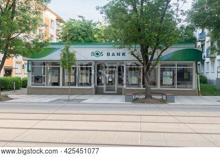 Gorzow Wielkopolski, Poland - June 1, 2021: Bank Ochrony Srodowiska, Bos Bank. Bank Specializes In S