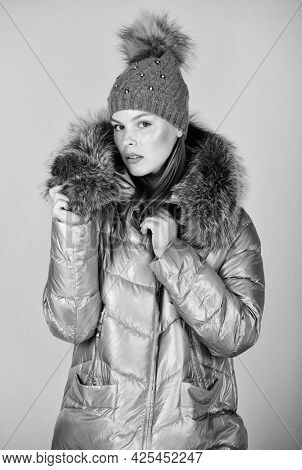 Faux Fur. Casual Winter Jacket Slightly More Stylish And Have More Comfort Features Such As Larger H