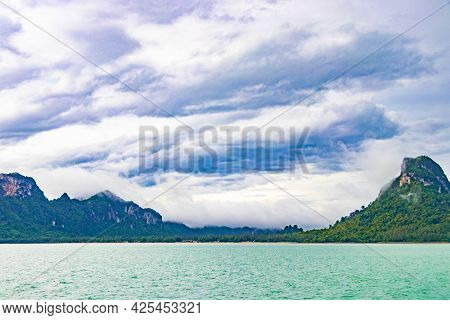 Travel To Don Sak Over Turquoise Water Tropical Landscape Thailand.