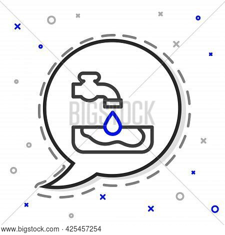 Line Water Problem Icon Isolated On White Background. Poor Countries Environmental Public Health Rel