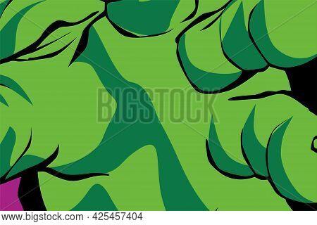 Green Wadding Vector Illustration Background Design Cartoon