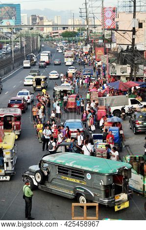 View Landscape Cityscape And Local Life Lifestyle Of Filipino People And Foreign Travelers Walking S