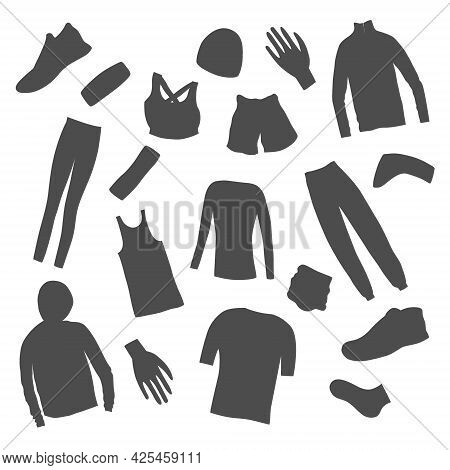 Womens Clothes For A Summer Jogging Made As Icons