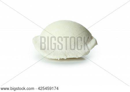 Uncooked Varenik Or Pierog Isolated On White Background