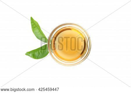 Homemade Apple Vinegar Isolated On White Background
