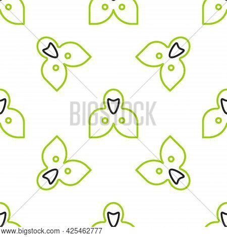 Line Mantle, Cloak, Cape Icon Isolated Seamless Pattern On White Background. Magic Cloak Of Mage, Wi