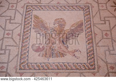 The Roman Mosaics At House Of Dionysos At Nea Paphos Archaeological Park In Paphos City, Cyprus