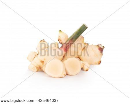Galangal An Isolated On A White Background