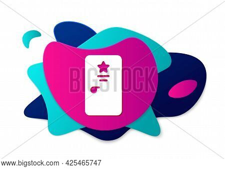 Color Backstage Icon Isolated On White Background. Door With A Star Sign. Dressing Up For Celebritie