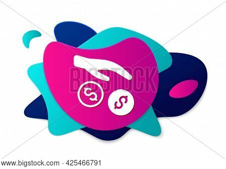 Color Donation And Charity Icon Isolated On White Background. Donate Money And Charity Concept. Abst
