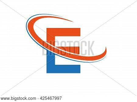 E Logo For Business And Company Identity. E Letter Logo Vector Template. Initial E Logo Design.