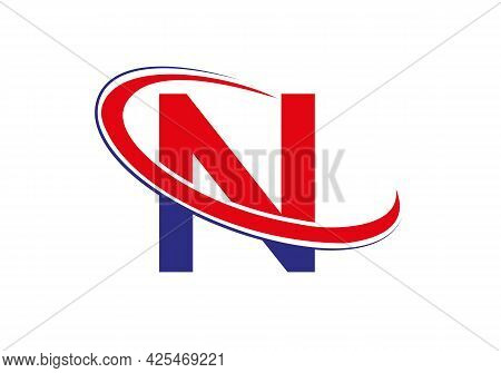 N Letter Logo For Business And Company Identity. Initial Letter N Logo Vector Template