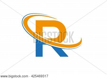 R Logo Design. Initial Letter R Logo For Business And Company Identity.