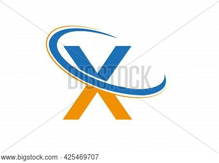Initial X Logo Vector Template. Swoosh X Letter Logo Design. X Logo Design Vector