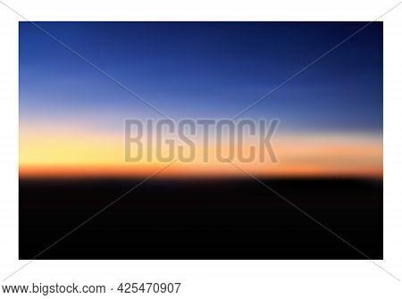 Sunrise Or Sunset. Twilight Sky After Sunset. Vector Illustration.