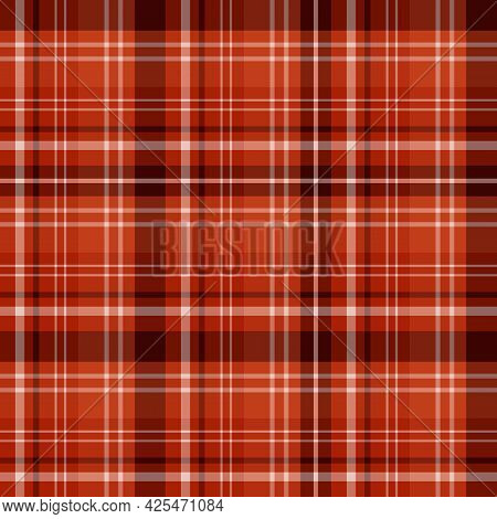 Seamless Pattern In Festive Orange Colors For Plaid, Fabric, Textile, Clothes, Tablecloth And Other